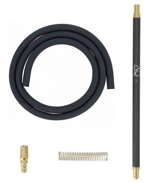 AO Carbon Mundstück Set - Gold Schwarz Matt