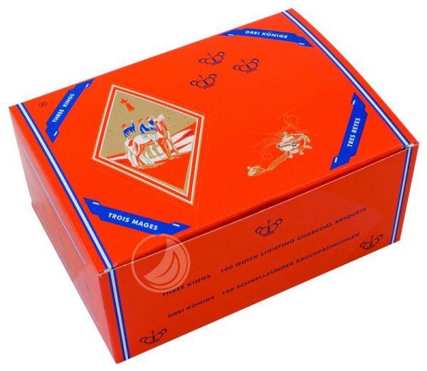 Three Kings SZ-Kohle 40mm - 100er Box