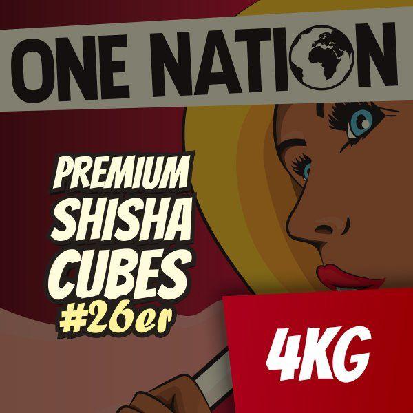 One Nation Shisha Cubes #26er - 4kg