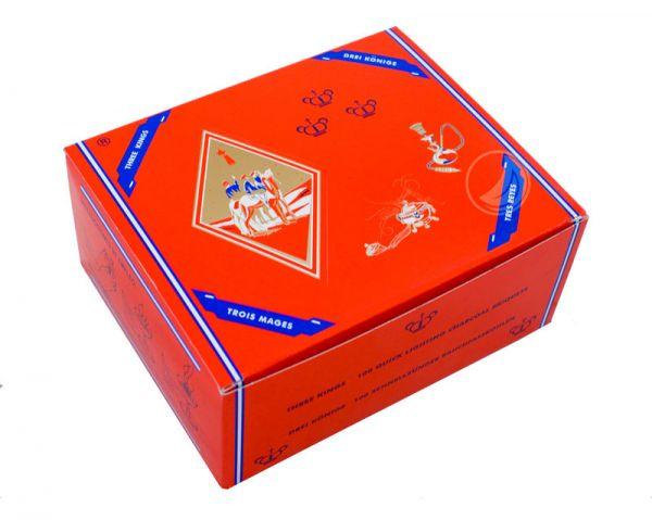 Three Kings SZ-Kohle 33mm - 100er Box