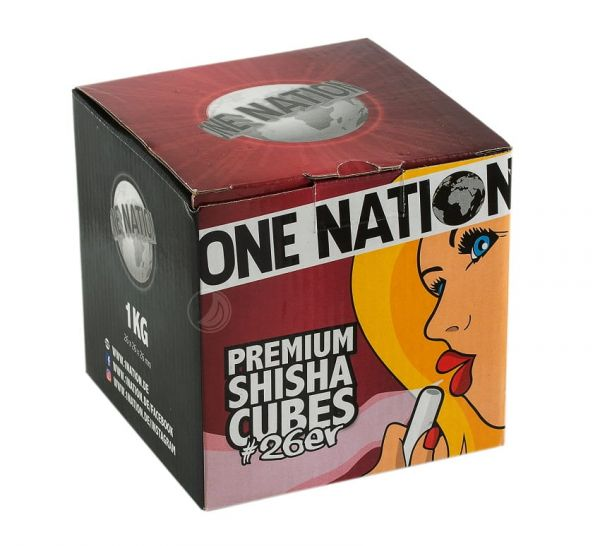 One Nation Shisha Cubes #26er - 1kg
